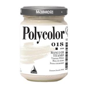Culoare acrilica Maimeri polycolor 140 ml titanium white 1220018