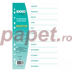 Separatoare plastic ianuarie-decembrie Exxo E1654