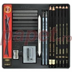 Set graphit Gioconda Art pentru desen in cutie metalica K8898