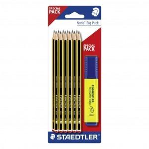 Set creioane Staedtler Noris si textmarker classic cadou ST120BK12P1