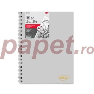 Bloc A4 schite Daco 120G 80 file BD412