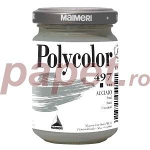 Culoare acrilica Maimeri polycolor 140 ml steel 1220497