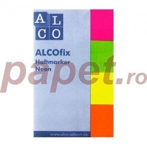 Post-it 20 x 50 mm 40 file x 4 culori neon Alco AL-6830