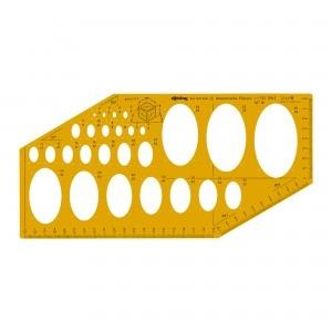 Sablon Rotring elipse isometrice S0238021
