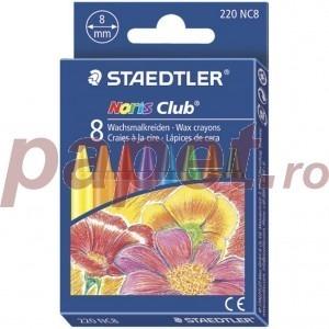 Creioane colorate cerate 8 culori / set Staedtler ST220NC8
