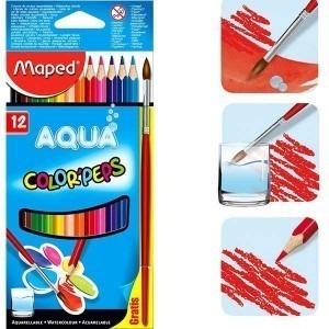 Creioane colorate Maped 12 culori / set AQUA M836011