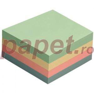 Notes adeziv 76x76mm 400file 4culori pastel E3014