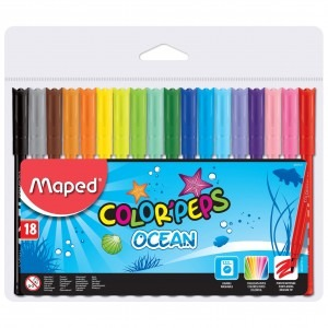 Carioca Maped 18 culori  / set Ocean M845311