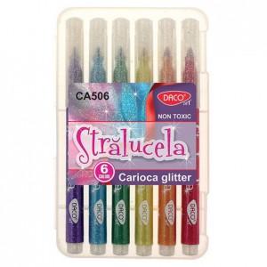 Carioca glitter Daco 6 culori CA506