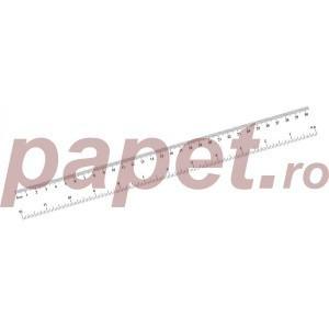 Rigla 30cm plastic transparent E866