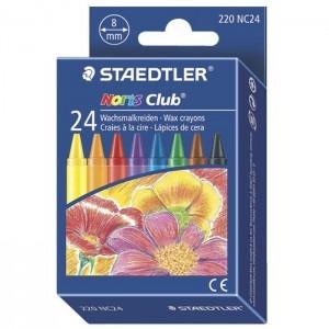 Creioane colorate cerate 24 culori / set Staedtler ST-220-NC24