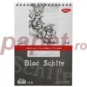 Bloc A6 hartie neagra 140G 30 file Daco BD614