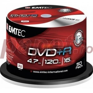 DVD+R Emtec 16X 4.7GB 50/box EMT20006