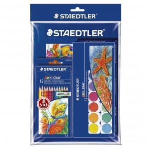 Set coloriaj Staedtler, creioane colorate, acuarela si bloc desen ST144888