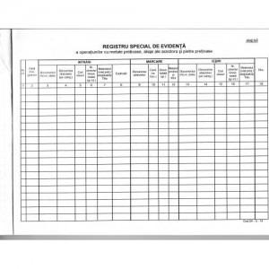 Registru metale pretioase (sigilat -copertat) 557