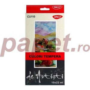Tempera 10 culori Daco artist 22ML CU110