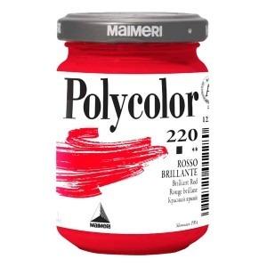 Culoare acrilica Maimeri polycolor 140 ml brilliant red 1220220