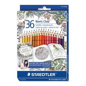 Creioane colorate Staedtler Noris Club Johanna Basford 36 culori / set ST-144-D36JB