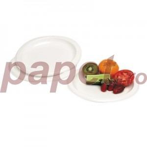 Farfurii intinse din plastic 100 bucati / set 696