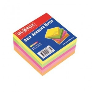 Notes adeziv 76x76mm 4culx100file neon GLOBOX E12013