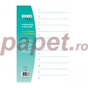 Index plastic Exxo 1-12 gri 186166025