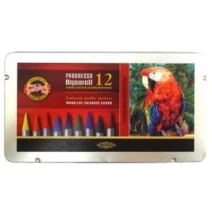 Creioane progresso aquarell fara lemn Koh-I-Noor 12 bucati / set K8782-12