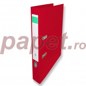 Biblioraft plastifiat Papet 5cm rosu B5103