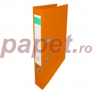 Biblioraft plastifiat Papet 5cm portocaliu E564029
