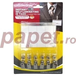 Ecuson orizontal Papet cu clips metalic 74x104MM 6/blister EG8A14