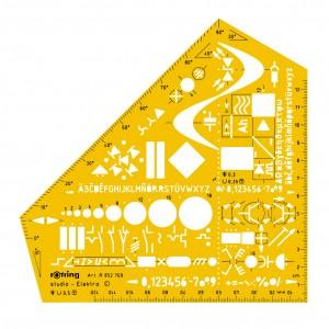 Sablon Rotring instalatii electrice S0238591