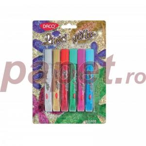 Lipici glitter 6/set Daco LG106