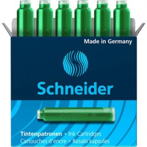 Patroane stilou Schneider 6/cut verde/rosu 284504