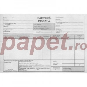 Facturier fiscal A5 cu TVA 538