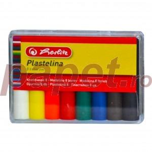 Plastilina 8 culori cutie plastic Herlitz 9562919