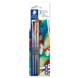 Set pensule Staedtler maner lemn si manson din metal 3/blister STH-989-SBK3-3