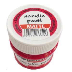 Culoare acrilica mata 50ML Carmin P1223