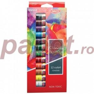 Tempera 12 culori Daco CU112