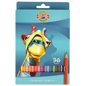 Creioane colorate Koh-I-Noor 36/set Girafa K3555-36G
