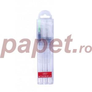 Pensule Daco plate 3/set cu rezervor PN603D
