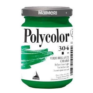 Culoare acrilica Maimeri polycolor 140 ml brilliant green light 1220304
