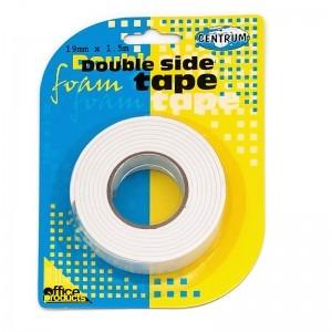 Banda dublu adeziva Centrum 19 mm x 1.5 m 80155