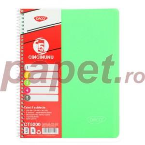 Caiet A4 Daco 200 file 5 subiecte eminent 8569