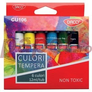 Tempera 6 culori Daco CU106