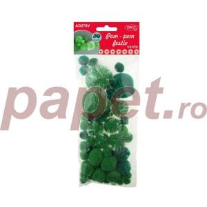Accesorii craft Daco Pom Pom festiv verde AD279V