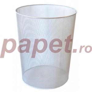 Cos de gunoi Ecada negru/argintiu 5865