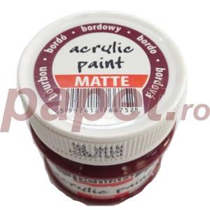 Culoare acrilica mata 50ML Bordeaux P1314