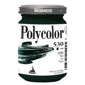 Culoare acrilica Maimeri polycolor 140 ml black 1220530