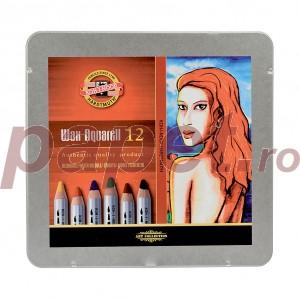 Creioane Koh-I-Noor  Wax Aquarell 12 culori / set  K8282-12