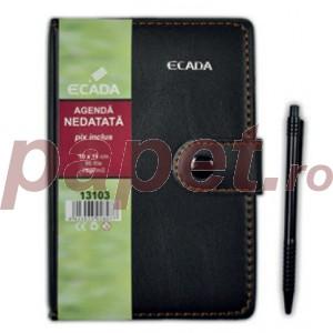 Agenda cu pix 7.5x10.5cm Ecada 13104