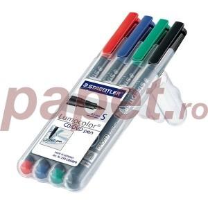 Marker CD/DVD Staedtler cu 4 culori / set ST-310-CDS-WP4